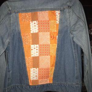 Patchwork denim jacket size medium
